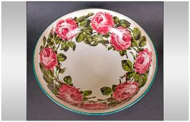 Wemyes - Impressive and Very Large ' Cabbage Roses ' Patterned - Footed Wash Bowl. Diameter 15
