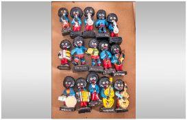 Robertsons Jam Interest. Collection Of 15 Figures, Plastic & Chalk. Musicians & Footballers.
