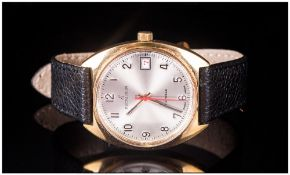 Vintage Excalibur 17 Jewels Swiss Made Wristwatch In Gold Coloured Metal Case number 1102, On
