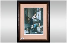 Tom Dodson Pencil Signed Limited & Numbered Edition Colour Lithograph Print. Title 'Friday Night'
