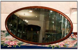 Wooden Framed Oval Mirror, 35'' in width