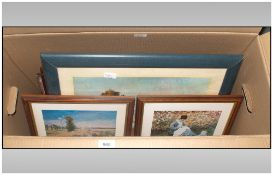 Box Containing A Collection Of 12 Modern Framed Prints