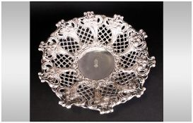 Spanish Silver Antique Embossed Footed Bowl Of Fine Quality engraved to the centre with the