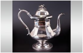 Beggs & Smith Silversmiths Of Cincinnati USA Fine Handmade Coin Silver Large Teapot,