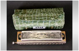 M. Hohner Super Chromonica. c.1950's. 5.5 Inches In Length. Overall Good Condition.