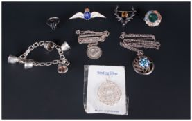 A Small Collection of Vintage Silver Items ( 8 ) In Total.
