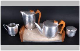 5 Piece Silver Plated Tea & Coffee Service Comprising tea pot, coffee pot, milk jug,