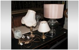 Modern Glass Table Lamp, together with 3 others.