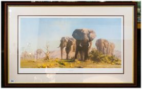 """Limited Edition Framed Print By David Shepherd 'The Ivory Is Theirs' 39x25"""""""