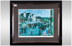 Tom Dodson 1910-1991 Pencil Signed Ltd Edition Colour Print. Titled ' The Market Day ' Date 1978.