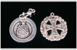 German World War I Iron Cross Medal Date 1914, Plus an Edward VII Silver Medal,