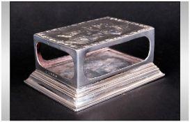 Edwardian - Impressive and Ornate Silver Matchbox Holder.