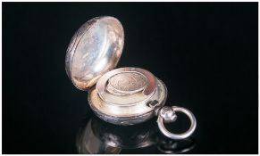 Edward VII Silver Hinged Sovereign Holder,