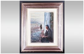 Sergio Tutino Italian Artist Oil On Board signed and dated 1985, titled to obverse.
