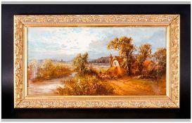 Britich 19th Century Artist Initials J.S.