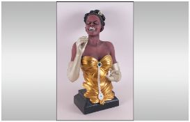Contemporary Decorative Composition Figure of an Elegant Lady Jazz Singer.