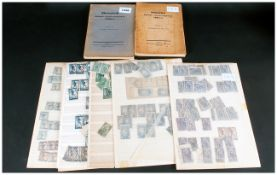 Lot Of 1910/1920's Yugoslavian Stamps On Stock Card many perf and colour variants,