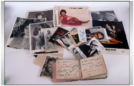 A Vintage Collection of Signed Photos and Autographs.