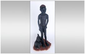 Soul Journeys Nuba Tribe Ltd and Numbered Figure ' Tomorrows Champion' Tute. Num. 159-4999.