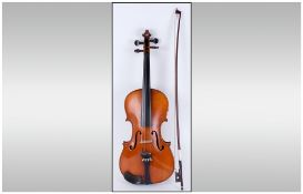 Late 19th Century Violin In Hard Case with bow.