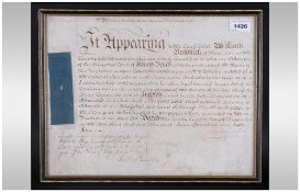 George III 1764 Kings Bench Report Document On Parchment,