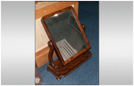 Victorian Mahogany Dressing Toilet Mirror with banded frame and a wing mirror which can be adjusted.