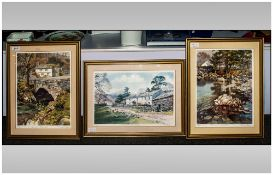 Judy Boyes - Lakeland Artist Ltd and Numbered Edition Pencil Signed Colour Prints, Set of 3.