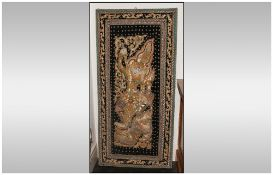 A Carved Indian Teak Wall Hanging Corner Unit profusely carved.