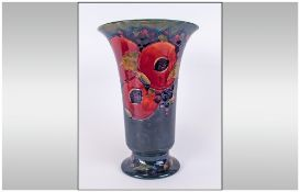 Moorcroft 'Pomegranate and Berries' Pattern Trumpet Vase, the traditional fruit pattern around the