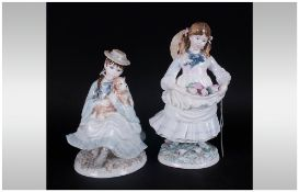 Coalport - Ltd and Numbered Edition Figurines ( 2 ) In Total. 1/ Best Friends. 2/ Childhood Joys.