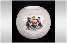 W. Moorcroft Circular Match Striker Made For E.M Staniland Oxford. Decorated With The City of