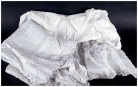 1860's Christening Gown together with a 1900's night dress.