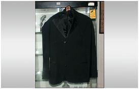 Hugo Boss Gents Three Piece Black Dinner Suit, Size 38/40. Cost New £800