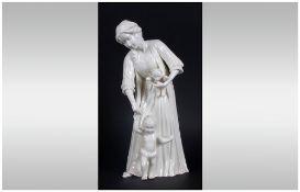 Royal Worcester Figurine 'First Steps' RW.4459 Issued 1989-2000 Modeller Glenis Devereaux, 8.25'' in