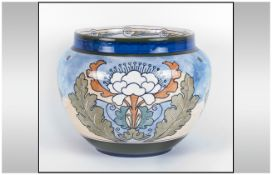 Royal Doulton Stoneware Jardiniere With stylized floral decoration. D3893, Circa 1910. All aspects