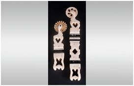 Pair Of Bone Jaggers/Crimpers With Cut Out Hearts To The Handles, 7'' & 5'' in length. In