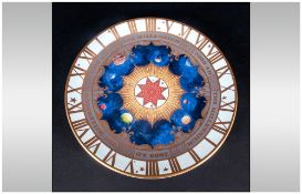 Royal Worcester Ltd Edition Millennium Plate, Hand Finished In Gold. 8 Inches In Diameter. 1st