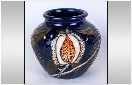 Moorcroft Limited & Numbered Edition Small Vase, 'Honeymoon' design. Designer Nicola Slaney. 32/50