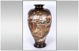 Japanese Satsuma Meiji Period Tall & Impressive Vase decorated with images of Japanese women &
