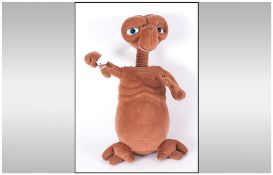 ET Collectable From The Universal Studios, vintage model of ET, in plush material. 16'' in length.