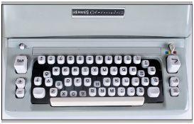Hermes Ambassador Vintage Type Writer fabrication suisse model D