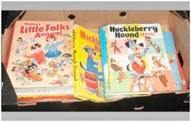 Collection Of Childrens Annuals, Comprising Sooty, Film Fun, Huckleberry Hound etc.