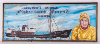Keith Sutton An Unusual Advertising OIl on Canvas by Local Fleetwood Artist. The painting depicts an