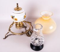 Crystal Candle Lamp, together with farm house electric oil ceiling light.
