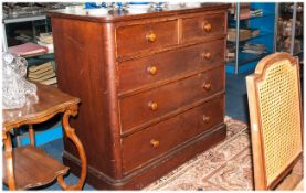 Victorian Pine Chest Of Drawers In Original Condition three long drawers and two smaller drawers