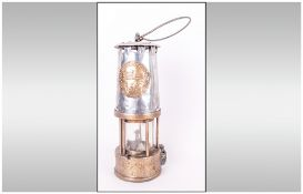 Brass Miners Lamp. Reads on It - The Protector Lamp and Lighting Co & Ltd, Eccles Manchester.