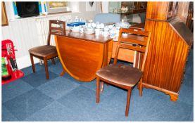 Nathan Furniture 2 Dining Room Chairs Together With A Drop Leaf Dining Table