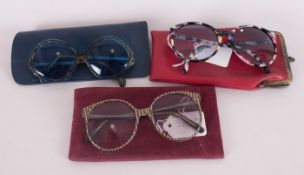 Collection of Original Retro Glasses comprising Menrad, German Made Glasses, Michael Selcott gold
