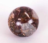 Antique Rouge Marble Sphere. 6 Inches Diameter.