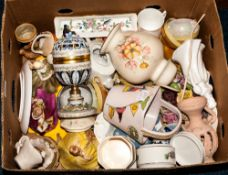 Box Containing A Quantity Of Ceramics And Collectables